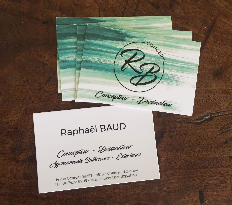 Logo Carte De Visite Et Papier A Entete Pour Raphael Baud