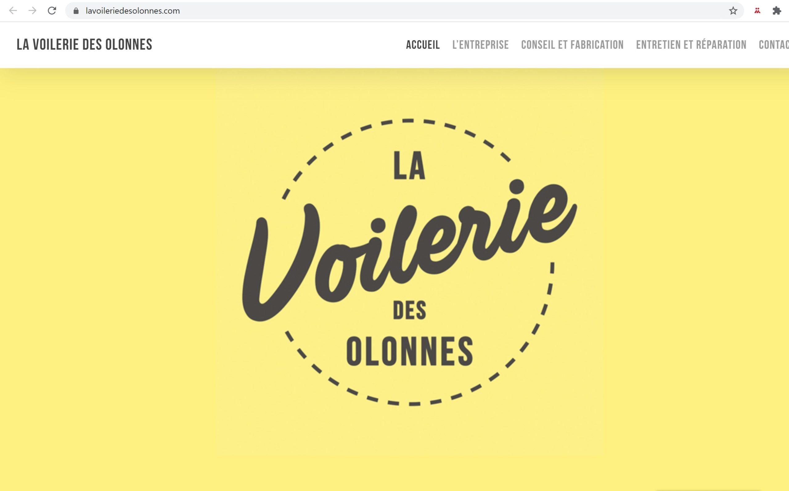 Site Internet «La Voilerie Des Olonnes»